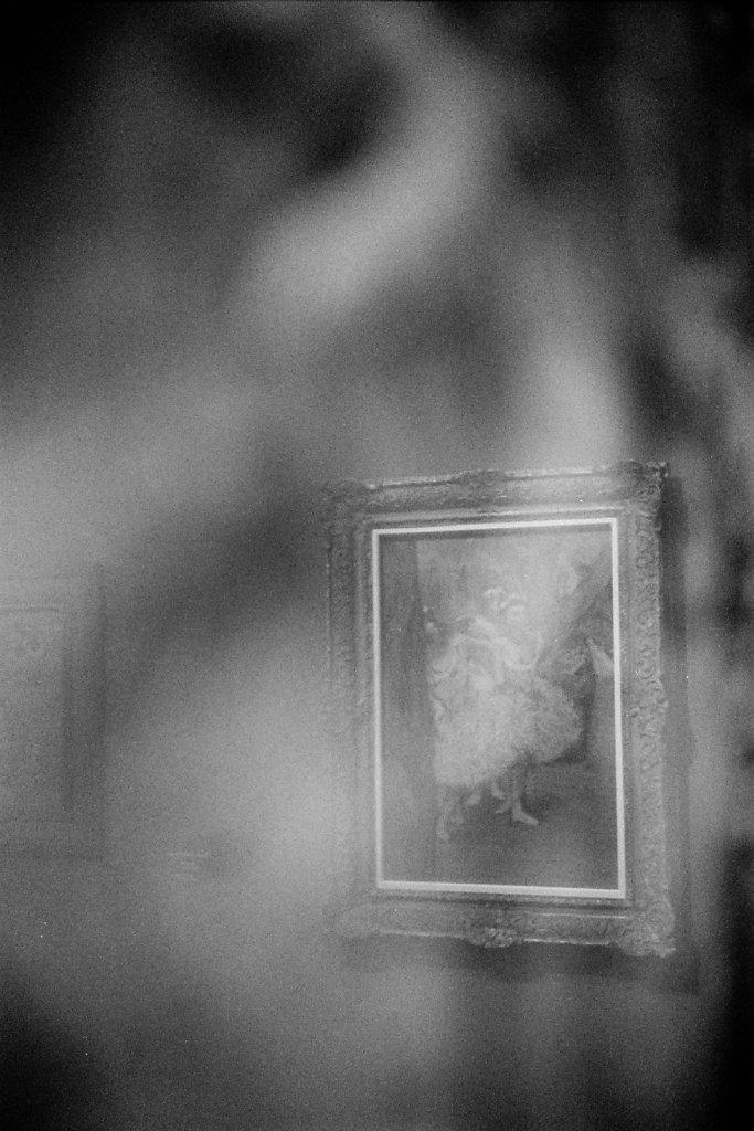 Reflet d'un tableau